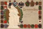 CPA EN RELIEF GAUFREE ALLEMAGNE   ** EMBOSSED CARD GERMANY ** EIN DEUTSCHER GRUSS - Souvenir De...