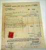 FISCALE 1937 20 CENTESIMI SU RICEVUTA   SEMESTRE VERONA - Steuermarken