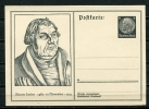 Germany 1933 Nice Martin Luther/Evangelist PSC/Card Unused - Germany