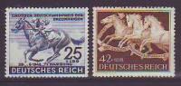 DR/ Österreich 1942, ANK 814- 815, Blaues Und Braunes Band, Postfrisch ** - 1918-1945 1. Republik