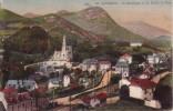 Thematiques Hautes Pyrenees Lourdes La Ville La Basilique Et La Route De Pau Ecrite Timbree 1927 - Lourdes
