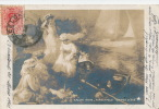 """Jolie Carte Fantaisie Femmes - SALON 1909 - """"Soirée D'été"""" HIRSCHFELD - Women"""