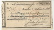 REÇU DE LA BANQUE DE FRANCE DE MONTPELLIER . 1866 - France