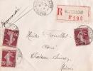NIEVRE Montsauche ENV REC 1924 - Postmark Collection (Covers)