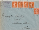 NIEVRE Moulins Engilbert 1922 - Postmark Collection (Covers)