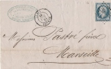 CHARENTE INFERIEURE Marans Lac 1861 - Postmark Collection (Covers)