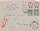 MARNE RECETTE AUXILLIAIRE CHALONS SUR MARNE1911 - Postmark Collection (Covers)