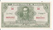 BOLIVIE 5 BOLIVIANOS  L.1928 AUNC P 129 - Bolivia
