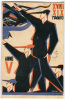 CARTOLINA GRUPPO UNIVERISTARIO FASCISTA GUIDO RESEN GORIZIA ANNO 1927 ILLUSTRATORE SPAZZAN FUTURISTA - Künstlerkarten