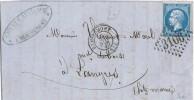 Carta Entera REMIREMONT 1867, Gride 3106 - 1862 Napoleone III