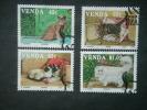 VENDA, 1993, CTO Set, Cats, Scott 253-6 CV 4.00, On Paper - Venda