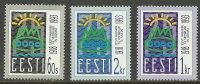ESTLAND Estonia Estonie 1993 Estonian Republik 75. Anniversary Jahrestag Michel 200-202 - Estonie