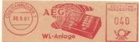 Germany Nice Cut Meter AEG WL-Anlage, Hannover 30-5-1961 - Computers