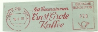 Germany Nice Cut Meter Seitgenerationen ERNST GROTE KAFFEE, Hannover 16-6-1961 - Andere