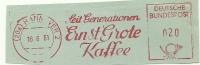 Germany Nice Cut Meter Seitgenerationen ERNST GROTE KAFFEE, Hannover 16-6-1961 - Dranken