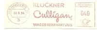 Germany Nice Cut Meter Klockner Culligan Wasserenthartung, Hannover 5-5-1964 - Scheikunde