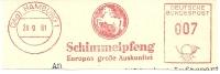 Germany Nice Cut Meter Schimmelpfeng, Europas Grosse Auskunftei, Horse Hamburg 26-9-1961 - Paarden