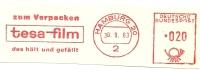 Germany Nice Cut Meter TESA-FILM, Zum Verpacken Das Halt Und Gefalt, Hamburg 30-9-1963 - Scheikunde