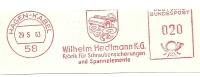 Germany Nice Cut Meter Eilhelm Hedtmann, Fabrik Fur Schraubensicherungen Und Spannelemente, Hagen-Kabel 29-5-1963 - Fysica