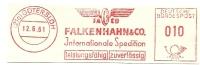 Germany Nice Cut Meter FACO Falkenhahn & Co, Intern. Spedition, Gotersloh 12-6-1961 - Transportmiddelen