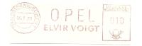 Germany Nice Cut Meter OPEL Elvir Voigt, Gelsenkirchen 6-7-1961 - Auto's
