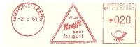 Germany Nice Cut Meter Was Krefft Baut Ist Gut!, Gelsenkirchen 2-5-1961 - Wetenschappen