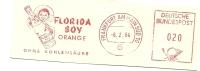 Germany Nice Cut Meter FLORIDA BOY ORANGE Ohne Kohlensaure, Frankfurt 6-2-1964 - Dranken