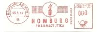 Germany Nice Cut Meter HOMBURG Pharmazeutika, Frankfurt 5-6-1964  TEST - Apotheek