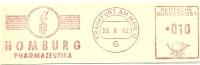Germany Nice Cut Meter HOMBURG Pharmazeutika, Frankfurt 20-9-1962 - Apotheek