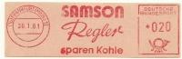 Germany Nice Cut Meter SAMSON REGLER Sparen Kohle, Frankfurt 30-1-1961 - Wetenschappen