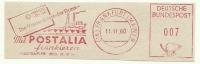 Germany Nice Cut Meter POSTALIA Frankieren, Frankfurt 11-11-1960 - Filatelie & Munten