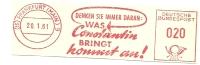 Germany Nice Cut Meter Was CONSTATIN Bringt Kommt An, Frankfurt 20-1-1961 - Scheikunde