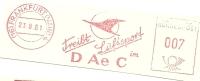 Germany Nice Cut Meter DAeC Treibt Luftsport Airplane, Frankfurt 23-8-1961 - Vliegtuigen