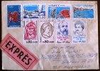 FRANCE: 1880+1881+1889+1896+1897+1903+1905 Sur Lettre Au Tarif Expres Pour L´ALLEMAGNE. Cachet D´arrivée Au Dos (Cover) - Marcophilie (Lettres)