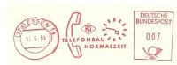 Germany Nice Cut Meter Telefonbau Normalzeit, Essen 15-6-1961 - Telecom