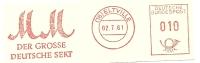 Germany Nice Cut Meter MM Der Grosse Deutsche Sekt, Eltville 2-7-1961 - Wijn & Sterke Drank