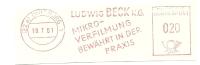 Germany Nice Cut Meter Ludwig Beck, Mikro-verfilmung Bewahrt In Der Praxis, Duisburg 19-7-1961 - Film