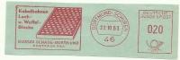 Germany Nice Cut Meter Gustav Scade, Kabelbahnen Loch- Und Waffel Bleche, Dortmund 22-10-1963 - Fysica