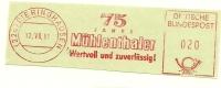 Germany Nice Cut Meter 75 Jahre Muhlenthaler Dieringhausen 12-7-1961 - Molens