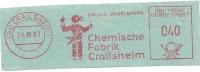 Germany Nice Cut Meter Chemische Fabrik Crailsheim 24-10-1963 - Scheikunde