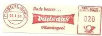 Germany Nice Cut Meter BADEDAS  Bade Besser ..  Vitamingeel, Buhl, 9-1-1961 - Scheikunde