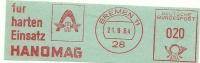Germany Nice Cut Meter HANOMAG Fur Harten Einsatz, Bremen 21-9-1964 - Vrachtwagens