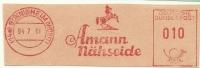 Germany Nice Cut Meter Amann Nahseide Horse Bonnigheim 4-7-1961 - Textile