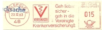 Germany Nice Cut Meter Vereinigte Krankenversicherung, Belefeld 20-12-1963 - Gezondheid