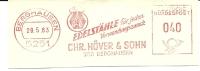 Germany Nice Cut Meter Edelstahle HOVER & Sohn, Berghausen 29-5-1963 - Fysica