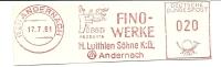 Germany Nice Cut Meter FINO WERKE  H. Luithlen , Andernach 17-7-1961 - Fysica
