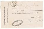 Double Ovale PP BRUXELLES Sur Reçu Du 30 Janvier 1877; Au Verso : DC VILVORDE Et VIRTON - België