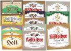 Bad Köstritz, Köstritzer Schwarzbierbrauerei 13 Versch. Bier-Etiketten - Bier