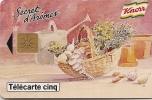 CARTE-PRIVEE-5U-04/95-GN146A-GEMB-KNORR  SECRET D AROMES-TBE   -LUXE - France