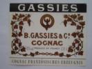 Etiquette COGNAC  B.CASSIES & C° . - Etiquettes